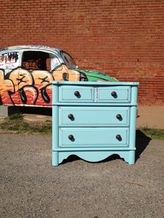 Small chest of drawers done in American Paint Company Surfboard.