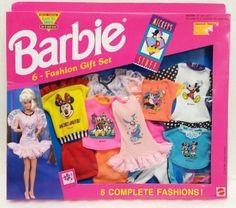 Barbie ~ Mickey Mouse 6 Fashion Gift Set Minnie Daffy Duck 1992 Barbie Fashions #BARBIE Daffy Duck, 1980s Barbie, Mattel Barbie, Barbie And Ken, Mickey Mouse, Diy Barbie Clothes, Barbie Stuff, Habit Barbie, Barbie Fashionista