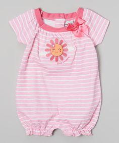 Pink Stripe 'Little Sunshine' Romper - Infant