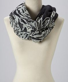 Take a look at this Black Zebra Infinity Scarf on @zulily today!
