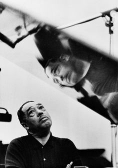 Photography - Duke Ellington Listening to Playback, Los Angeles, CA, 1960 | Gordon Parks