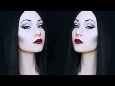 """How fabulous is Morticia Addams? She has an eerie beauty about her. Addams beauty … Continue reading """"How To: Morticia Addams Makeup"""" Morticia Addams Halloween Costume, Costume Halloween, Morticia Addams Kostüm, Looks Halloween, Family Halloween, Halloween Face Makeup, Halloween Ideas, Morticia Adams, Halloween 2014"""