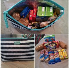 For the kids snacks! Toss it in the diaper bag.  Medium thermal zipper pouch ($15)