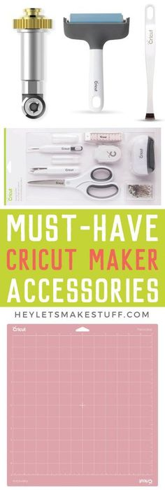 If you have a Cricut Maker, what sort of accessories do you want to buy to go with it? Which are important, and which are more of a splurge. Here's my ultimate list of must-have Cricut Maker Accessories! #cricut #cricutmaker