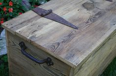 Made To Order Reclaimed Rustic Barn Wood Storage Chest, Coffee Table Or Bench…