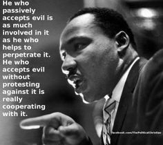 stand up against evil