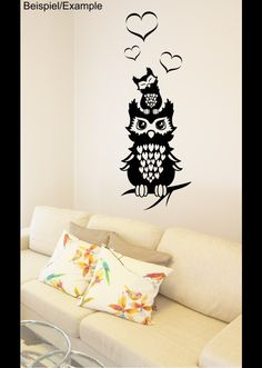 Wandtattoo - Eulenliebe - Wandtattoo - ein Designerstück von CatrinKerschl bei DaWanda