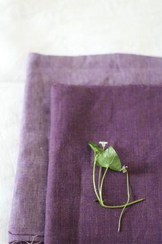 LINNET linen chambray violet