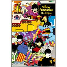 East Urban Home 'The Beatles Yellow Submarine' Vertical Rectangle Framed Graphic Art Print Poster Format: