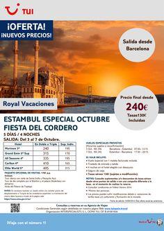 ¡Nuevos Precios! Estambul Fiesta del Cordero.4 ns. Barcelona.3 al 7 Octubre.Precio final dsde 240€ ultimo minuto - http://zocotours.com/nuevos-precios-estambul-fiesta-del-cordero-4-ns-barcelona-3-al-7-octubre-precio-final-dsde-240e-ultimo-minuto/