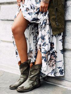 #floral #maxi #boots