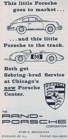 Rand Porsche  Road & Track  December 1962 #porsche #ads