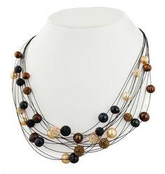 Black and Brown pearls look elegant
