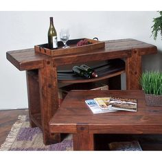 2 Day Designs Reclaimed Russian River Wine Console Table - The Russian River console table by 2-Day Designs lets you do your part for the environment by use of recycled beautiful white oak wine barrels. Master...