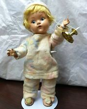 "VINTAGE VOGUE GINNY DOLL"" WEE WILLIE WINKIE "" w/ CANDLESTICK"