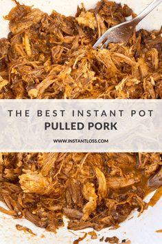 The Best Instant Pot Pulled Pork instantloss.com Blender Recipes, Oven Recipes, Pork Recipes, Fall Recipes, Cooker Recipes, Recipe Please, Breakfast For Dinner, Pressure Cooking, Yummy Food
