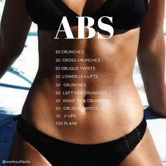 Fitness Workouts, Summer Body Workouts, Easy Workouts, At Home Workouts, Weight Workouts, Total Gym Workouts, Killer Ab Workouts, Daily Ab Workouts, Quick Workout At Home