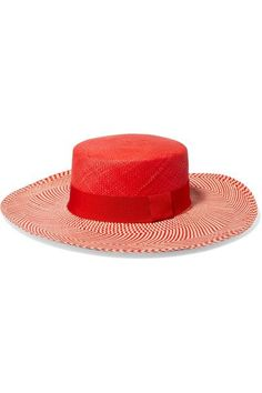 Sensi Studio - Cordovez toquilla straw sunhat. Red BeachFashion StudioRed  HatsGrosgrainFashion 2018ShadesSunBeach ... d0c46484dfac