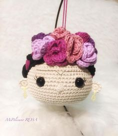 Muñeca mexicana: Muñeca de Amigurumi Muñeca ganchillo image 2 Crochet Diy, Crochet Dolls, Crochet Hats, Amigurumi Tutorial, Crochet Keychain, Doll Head, Amigurumi Doll, Crochet Projects, Lana