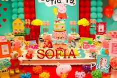 Peppa Pig Birthday Party Ideas   Photo 2 of 146 Peppa Pig, Pig Birthday, Birthday Parties, Birthday Ideas, George Pig, Pig Party, Balloons, Birthdays, Poppy