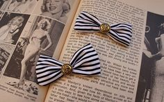 Olivia Paige - 2pcs ROckabilly vintage Anchor bow Pin up @Meryn LeClair for the sandals??