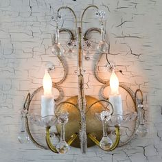 Shabby chic sconces perfect in a beach house