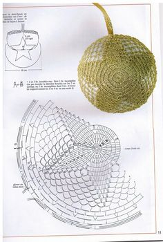 Crochet Star Ball - Chart  This is the pattern but the link has lots of other decorations... <3