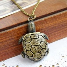 Cute Retro Style Tortoise Shape Pocket Watch Design Women's Sweater Chain Necklace, AS THE PICTURE in Necklaces | DressLily.com