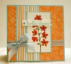 Stampin' Up! Peaceful Petals on Sweet Sorbet paper handmade card