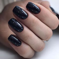 Black Manicure, Space Nails, Classic Nails, Fire Nails, Nail Envy, Flower Nails, Cute Nail Designs, Creative Makeup, How To Make Hair