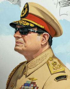 President Of Egypt, Beautiful Girl Drawing, Egyptian Art, World Leaders, World History, Presidents, Captain Hat, Drawings, Hats