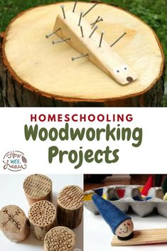 Incredible Woodworking Projects for Handy Kids! Woodworking Projects For Kids, Diy Projects For Kids, Crafts For Kids To Make, Arts And Crafts Projects, Kids Crafts, Creative Activities For Kids, Easy Arts And Crafts, Stem Skills, Motor Skills