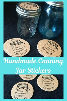 Stick to dome, under ring or right on your jar. Label your home goods with these primitive inspired Canning Stickers Canning Jar Labels, Mason Jar Lids, Handmade Wedding Favours, Rustic Wedding Favors, Diy Crafts For Gifts, Diy Kits, Glass Jars, Small Gifts, Custom Stickers