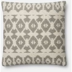 Pier 1 Imports Magnolia Home Emmie Kay Pillow ($59) ❤ liked on Polyvore featuring home, home decor, throw pillows, grey, grey throw pillows, patterned throw pillows, grey home decor, gray home decor and pier 1 imports