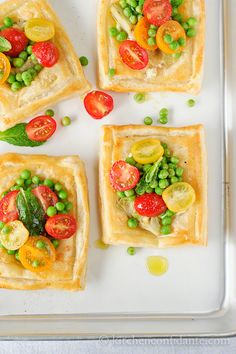 Artichoke and Feta Tarts with Tomato Salad | Kitchen Confidante | Styled