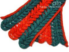 Long Wave Muffler- Kit A......  Designed by Jung-Hwa Yoo........ Koigu Yarns Painter's Palette Premium.............  Merino Wool KPM P2220 & P2350 / 1Skeins / 50g / 175yards / 160m.........