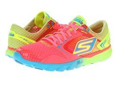 Women's SKECHERS GO Run - Speed Hot Pink/Lime