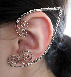 Ouchless Elven Ear Wrap in Copper Gold Silver Fantasy Jewelry Elf Elven Fairy Fae Cuff Custom Men Women