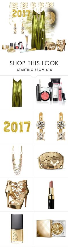 """Dazzle The Night Away contest"" by empathetic ❤ liked on Polyvore featuring River Island, Laura Geller, Ileana Makri, MICHAEL Michael Kors, GUESS, Bobbi Brown Cosmetics, NARS Cosmetics, Burberry and Kendra Scott"