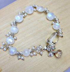Wedding Bracelet Wire Wrap Moonstone Bracelet by DoolittleJewelry, $225.00
