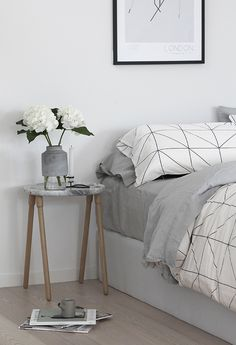 Aura Kami Queen Duvet Cover Set from Perch Home | WILLMANN VASE from MENU | The Design Chaser