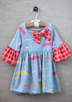 Idea for upcycling clothes into dresses for my daughter ~ Umbrella Ashley Dress By Jelly The Pug | Modern Vintage Children