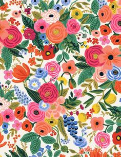 PREORDER Garden Party in Cream | Wildwood by Rifle Paper Co. | Cottoneer Fabrics