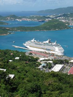 Adventure of the Seas docked in St. Thomas.