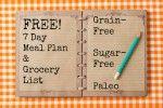 Free Grain Free Meal Plan & Shopping List GAPS