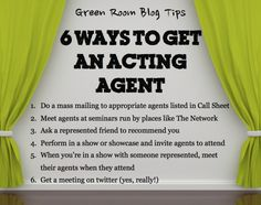 Six Ways To Get An Acting Agent - ...sort of but with nuances! Take a session with me and I'll explain further! #talesofatalentagent #TheCourtneyStudio