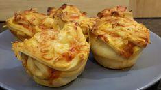 Die Kinderkueche: Schnelles Abendessen für die ganze Familie: leckere Pizzamuffins mit Pizzateig aus dem Kühlregal