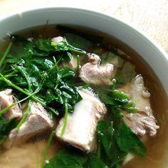 Pork Rib Soup with Ivy Gourd
