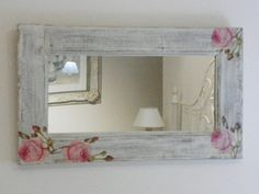 Decoupage Vintage, Decoupage Art, Recycled Furniture, Painted Furniture, Diy Furniture, Mirror Painting, Painting On Wood, Vintage Shabby Chic, Shabby Chic Decor