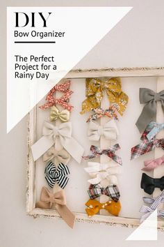 DIY Bow Organizer for Toddlers // DIY Project for the Baby Nursery